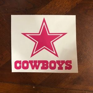 ANY sports team window decal Dallas cowboys